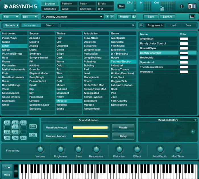 Composition tool for professional musicians