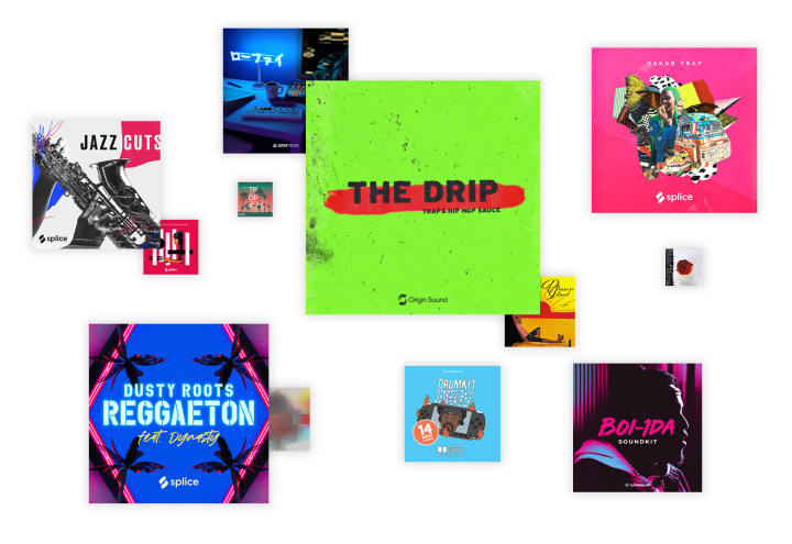 Collection of sample cover art