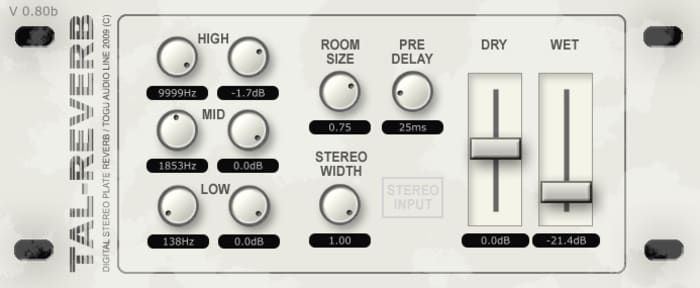 TAL Reverb II by TAL-Togu Audio Line - Plugins (VST, AU