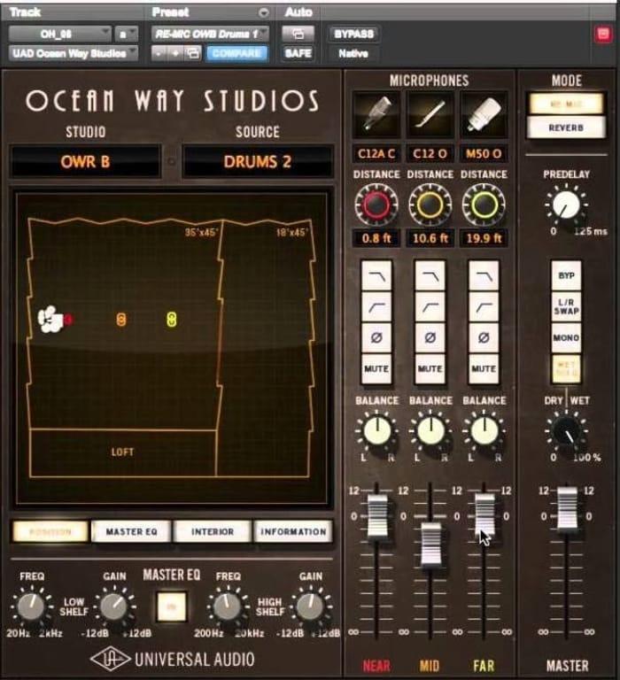 UAD Ocean Way Studios by Universal Audio - Plugins (VST, AU