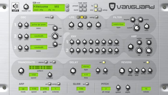vanguard vst download